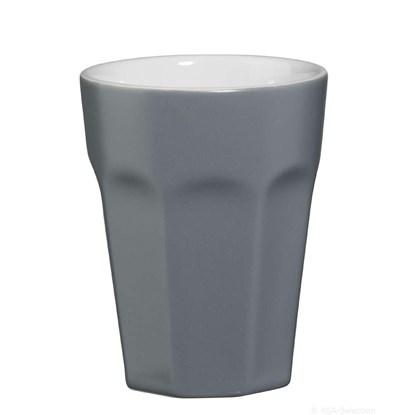 Hrnek na cappuccino - šedá matná_0