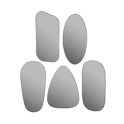 Zrcadla ART šedá SET/5ks_0