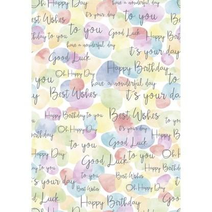 Balicí papír 70x100cm Happy Birthday/Bub_0