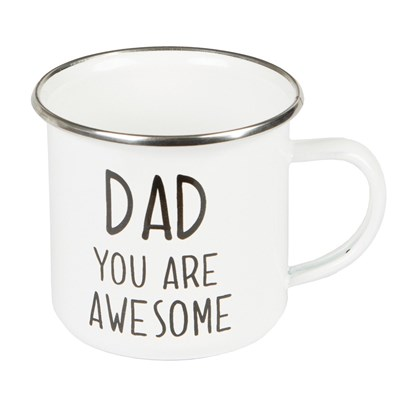 Smaltovaný plecháček Dad You Are Awesome_2