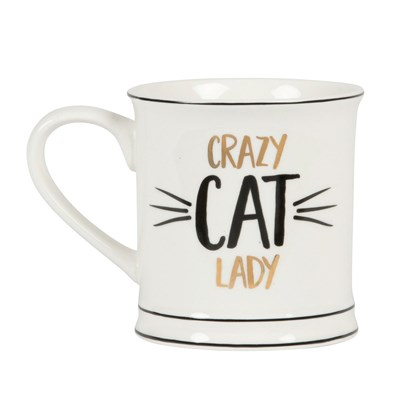 Hrnek Metallic Monochrome Crazy Cat Lady_0