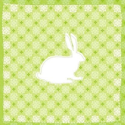 Papír. ubrousek 33x33cm Hase Muster grün_0