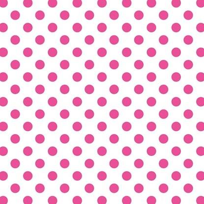 Papír. ubrousek 33x33cm dots pink_0