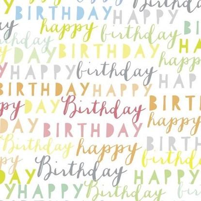 Papír. ubrousek 33x33cm happy birthday m_0