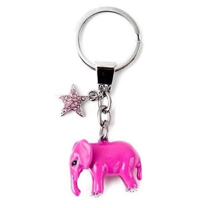 Přívěsek na klíče-Elefant-pink_0