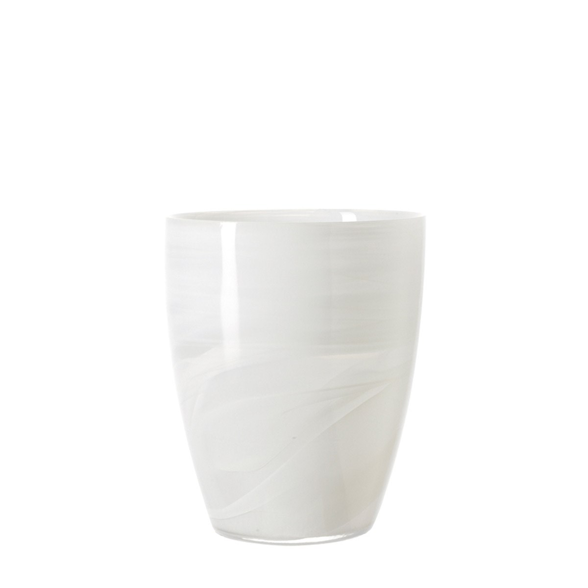 Svícen ALABASTRO 19 cm bílý_1