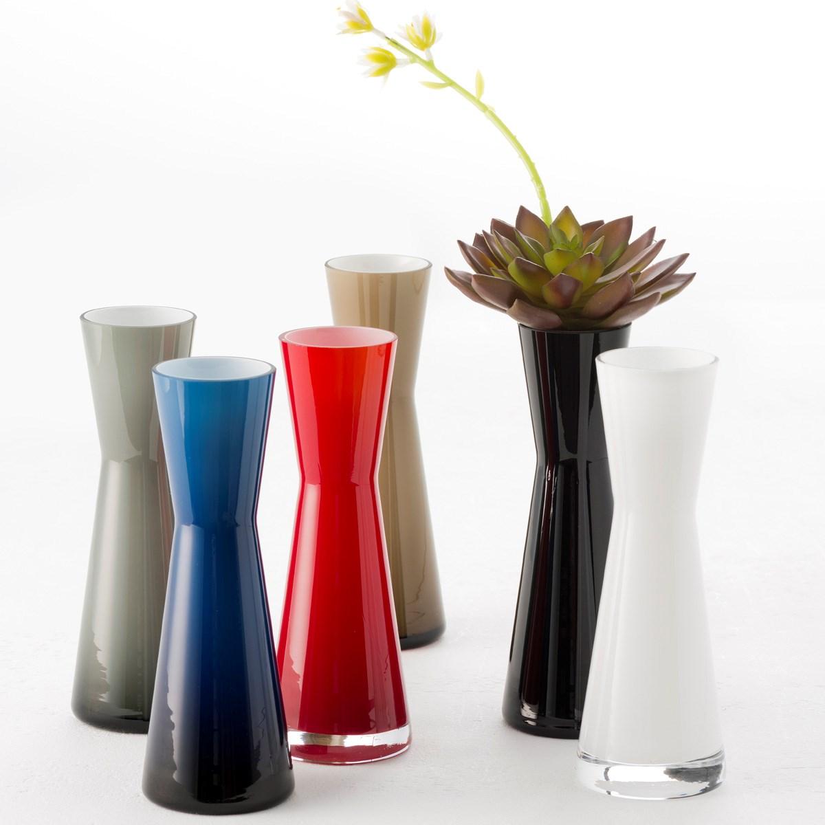 Váza Puccini 18 cm červená_0