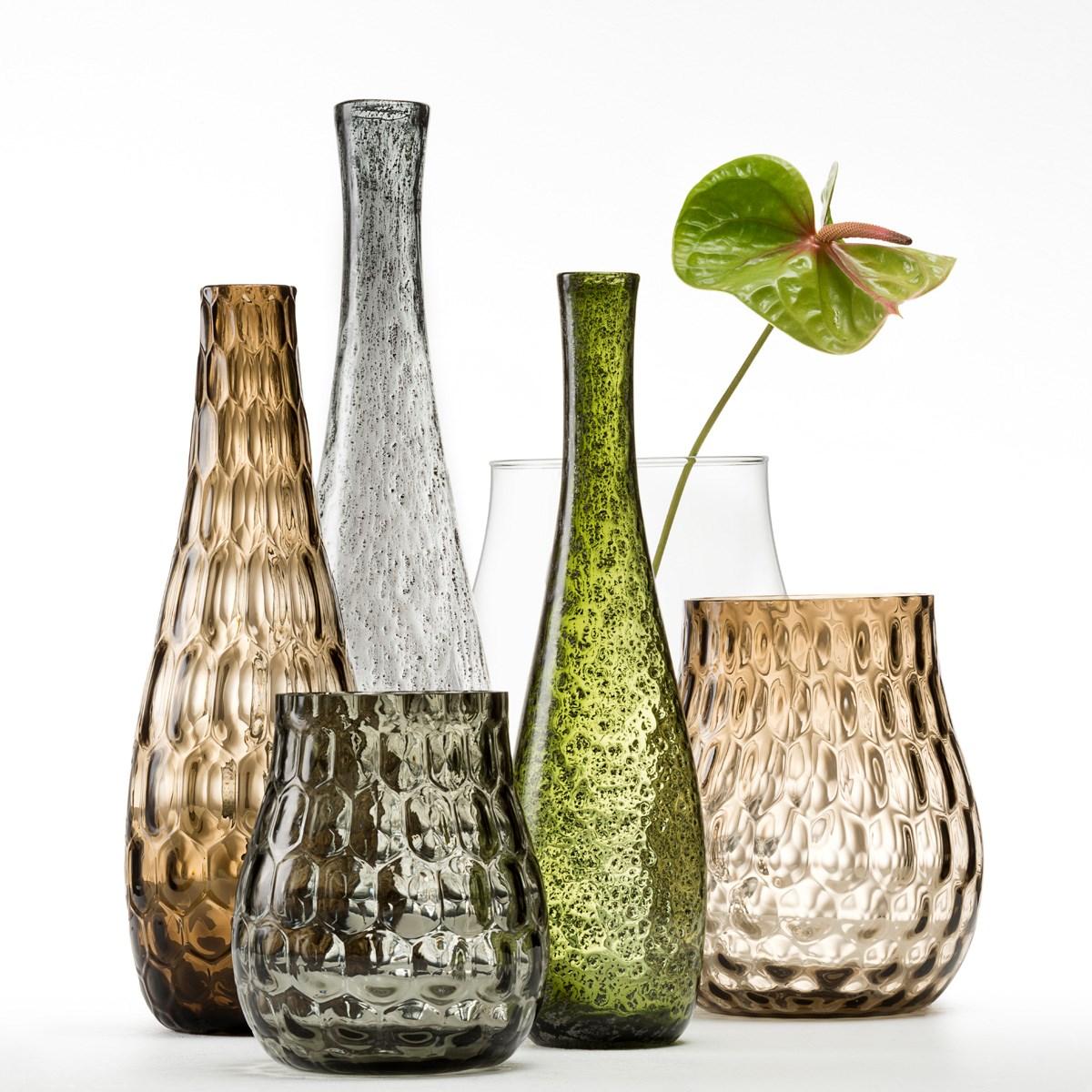 Váza BASALTO 50 cm šedá_0