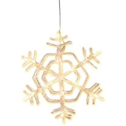 Dekorační svítící vločka SNOWFLAKE 30 cm_0