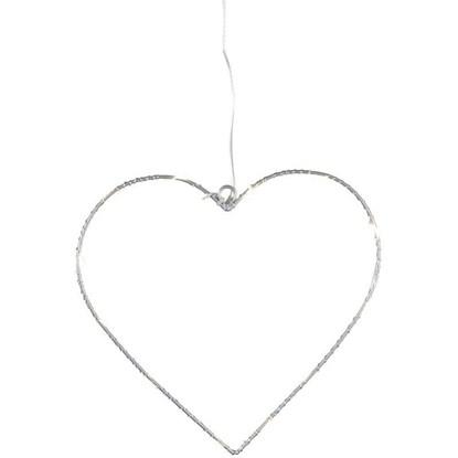 Drátěné srdce na zavěšení LED 19 cm_0
