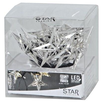 Světelný řetěz METAL STAR 10 LED světel_2