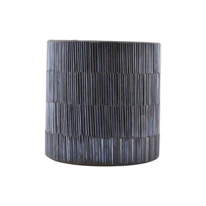 Svícen PIPE šedý 10cm_3