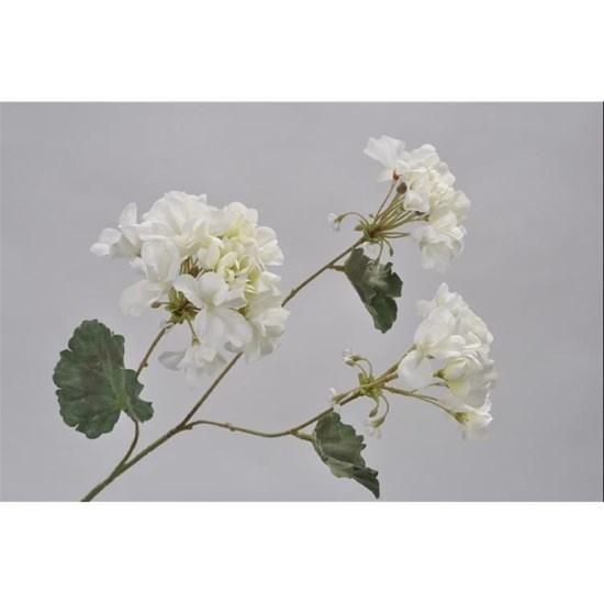Větvička GERANIUM bílá 58 cm_0