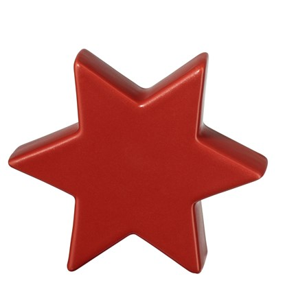 Keramická hvězda STAR 11 cm červená_0