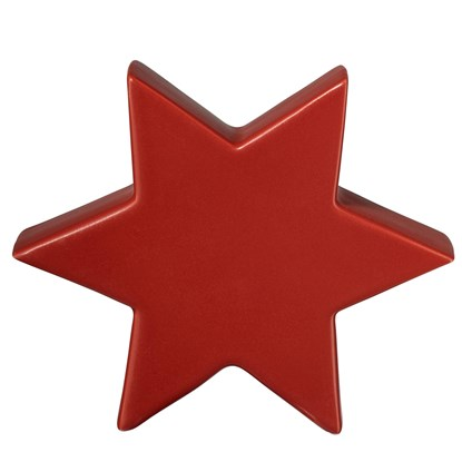 Keramická hvězda STAR 18 cm červená_0