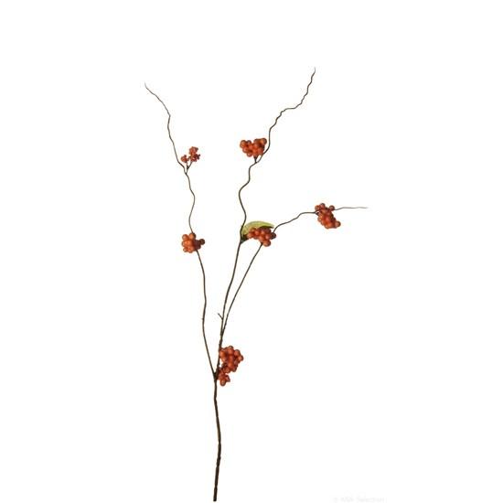 Větvička bobule 60 cm oranžová_0