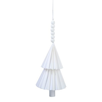 Dekorační vánoční stromek na zavěšení bí_0