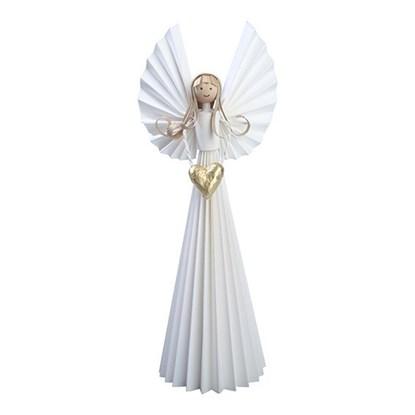 Papírový anděl se zlatým srdcem_0