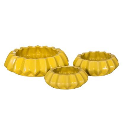 Svícínek LUANA SET/3 žlutá_0