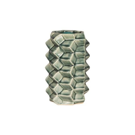 Váza 3D 20 cm zelená_0
