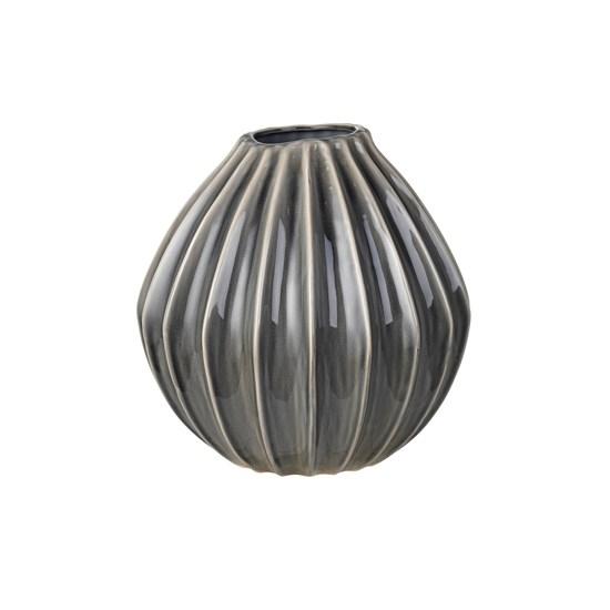 Váza WIDE 30 cm kouřová_0