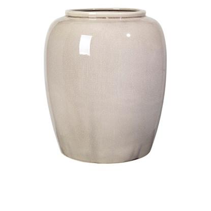 Váza CRACKLE 36 cm šedá_0
