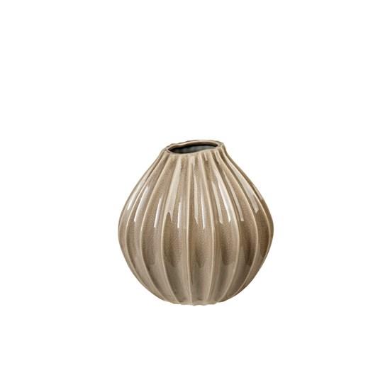 Váza WIDE 25 cm šedohnědá_0