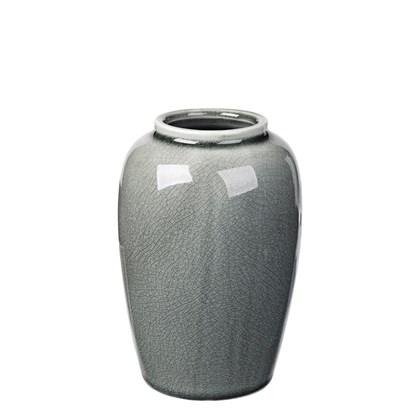 Váza CRACKLE 15,5cm zelenošedá_0