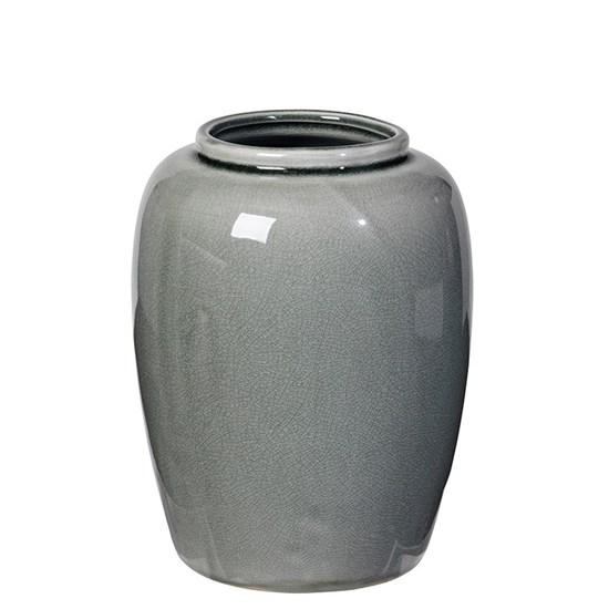 Váza CRACKLE 20cm zelenošedá_0