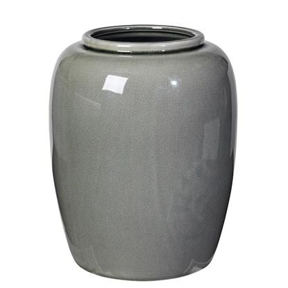 Váza CRACKLE 25,5cm zelenošedá_0