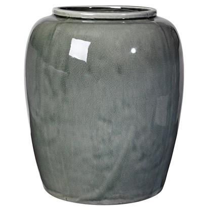 Váza CRACKLE 36cm zelenošedá_0