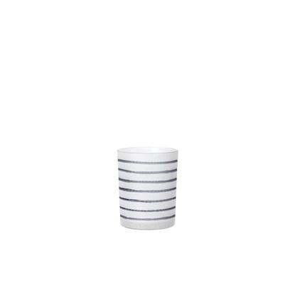Svícen STRIPES 12,5 cm šedomodrý_0