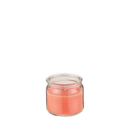Svíčka ve skle DH 22h lososová_0