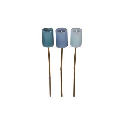 Pochodeň svíčka 3druhy V.58cm modrá cena/1ks_0