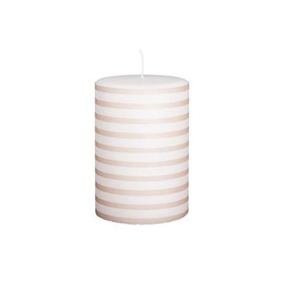 Svíčka STRIPE DH 145h růžovobílá_0