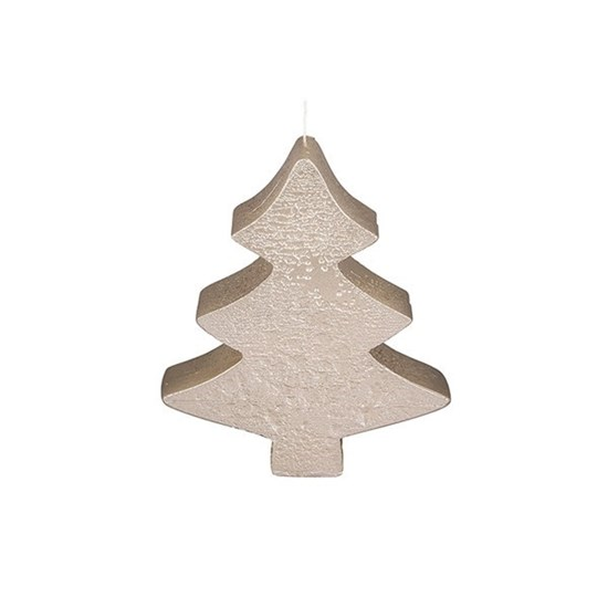 Svíčka X-MAS TREE FLAT 13 cm champagne_0