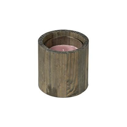 Svícen dřevěný se svíčkou DH 35h_0