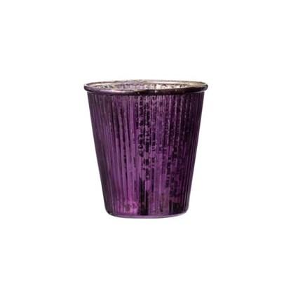 Svícen LALLY fialová+champagne 10 cm_0