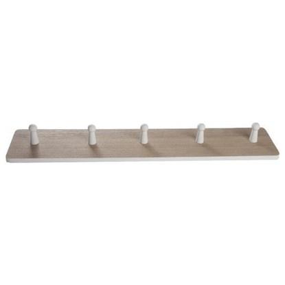 Dřevěný věšák s 5ti háčky_0