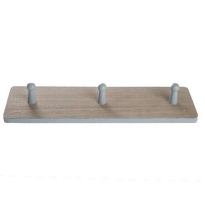 Dřevěný věšák se 3mi háčky_0