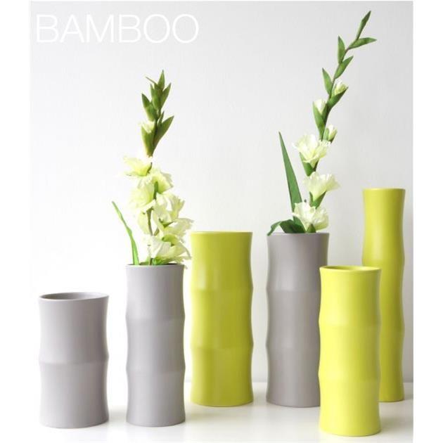 Váza BAMBOO 24 cm šedá matná_0