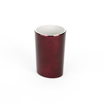 Pohárek na vodu SHINE 8x12x8 cm vínový_0