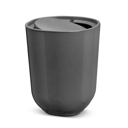 Odpadkový koš s víkem STEP tm.šedý_0