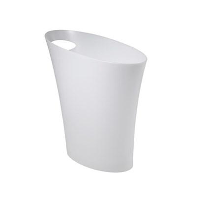 Odpadkový koš SKINNY 7,5 l bílá kovová_0
