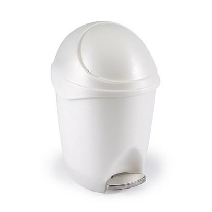 Odpadkový koš VISOR 6 l bílý / niklový_0