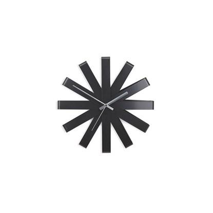Nástěnné hodiny RIBBON 30 cm černé_3