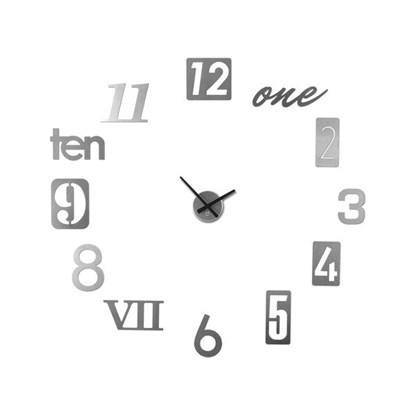 Nástěnné hodiny NUMBRA hliník set/13ks_1