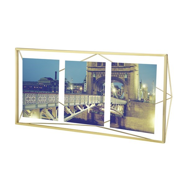Fotorámeček PRISMA 48x23 cm mosazný_0