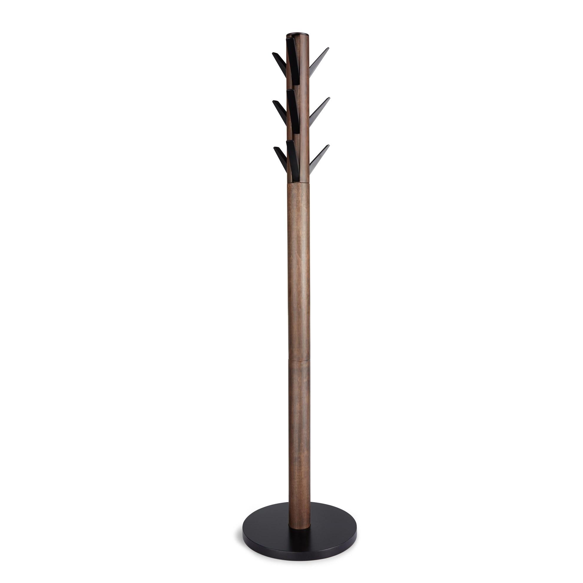 Věšák FLAPPER 165x57 cm ořech/černá_0