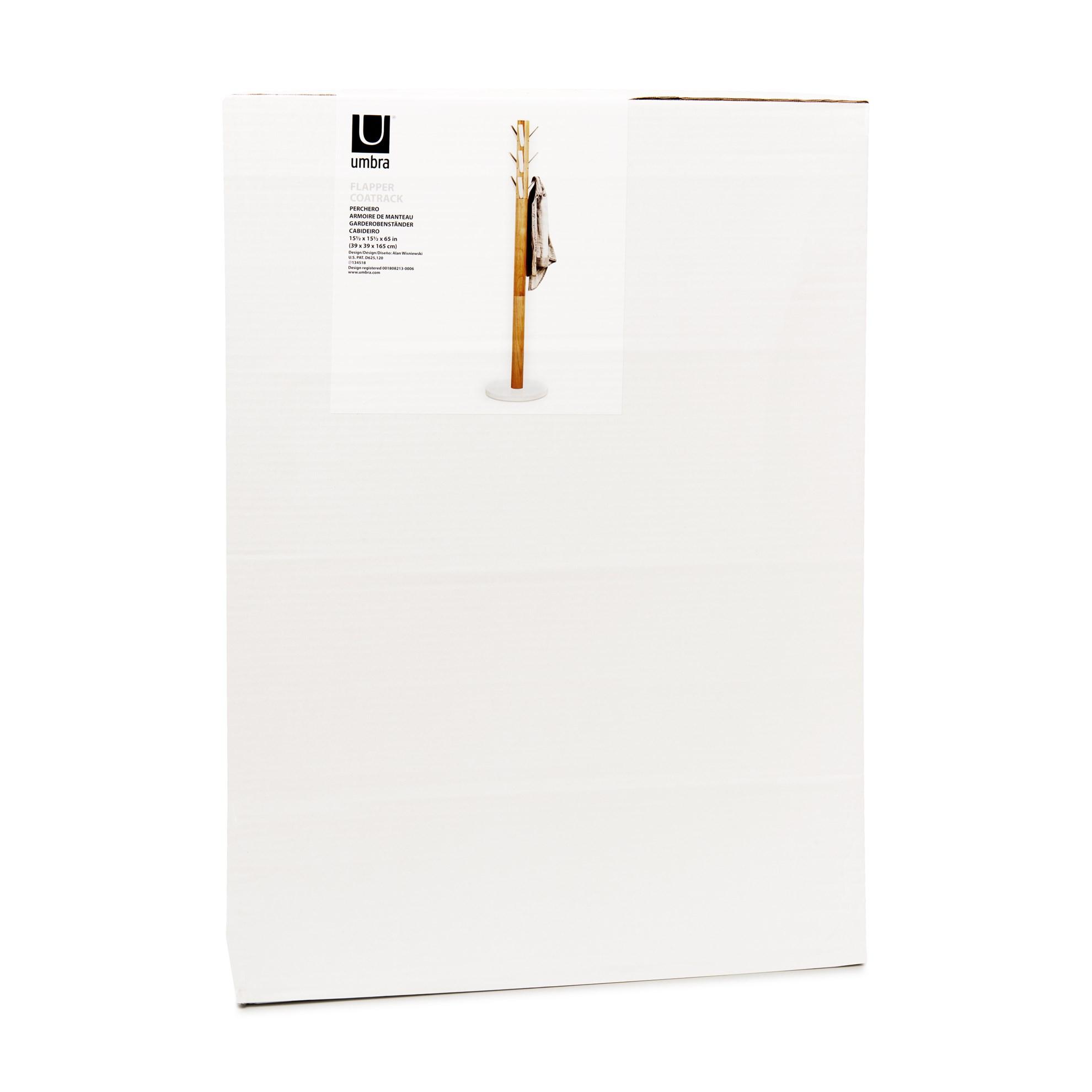 Věšák FLAPPER 165x57 cm bílá/přírodní_2